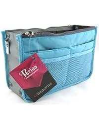 Handbag Organizer, Liner, Insert 12 Compartments - Chelsy (23 Colors, 3 Sizes)