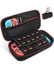 Keten Housse de Transport pour Nintendo Switch, Coque de Protection Portable étui de Voyage avec 19Jeux Laser Supports pour commutateur Console, Joy-Con et d'autres Accessoires (Noir)