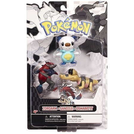 Pokemon Zoroark, Sandile, Oshawott Black and White Mini-Figure
