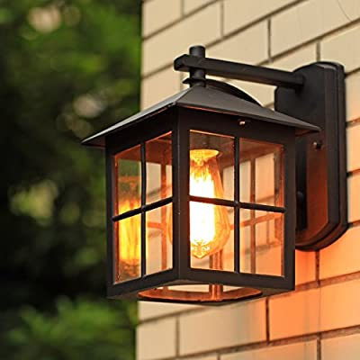 Amos Lámpara de Pared al Aire Libre Europea balcón Retro Luces Escalera LED Pasillo Pasillo al Aire Libre Patio lámpara de Pared a Prueba de Agua: Amazon.es: Hogar