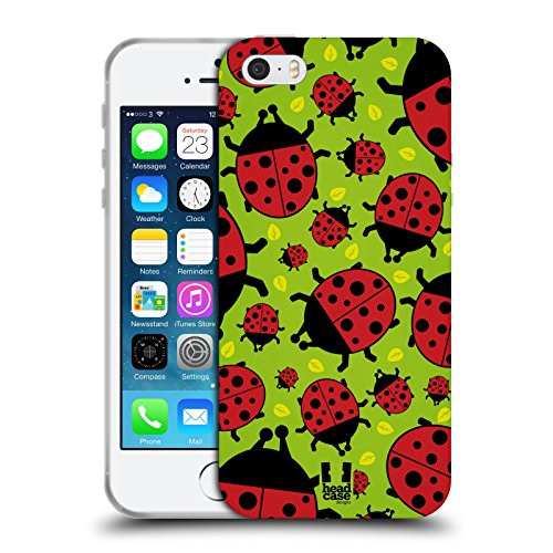 Head Case Designs Green Ladybug Bugged Life Soft Gel Case for iPhone 5 iPhone 5s iPhone SE