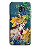 Printvisa Radha Krishna Pure Love Designer Printed Hard Back Case Cover for Samsung Galaxy J2 (2018) :: J2 Pro (2018)