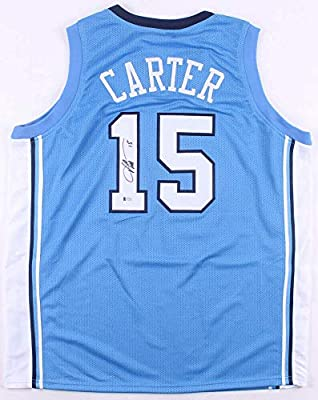 best website 009b6 a5df8 Vince Carter Autographed Signed Memorabilia North Carolina ...