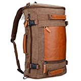WITZMAN Men Vintage Canvas Rucksack Travel Duffel Backpack Retro Hiking Bag 2063 (22inch Brown) Review