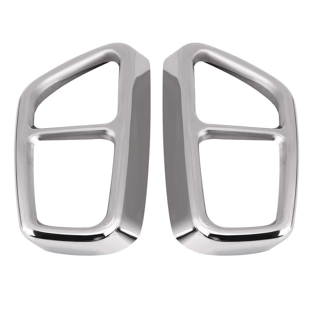 Qiilu 1 Pair Exhaust Tail Pipe Trim, Stainless Steel Rear Exhaust Muffler Cover for BMW 5 Series G30 17-18