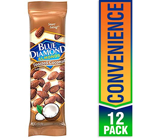 Blue Diamond Almonds, Toasted Coconut, 1.5 Ounce (Pack of 12)