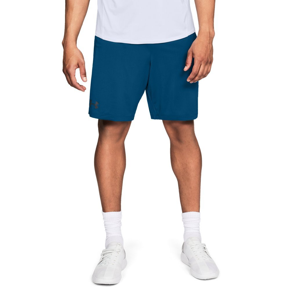 Under Armour mens MK1 Shorts, Moroccan Blue (487)/Stealth Gray, X-Large by Under Armour