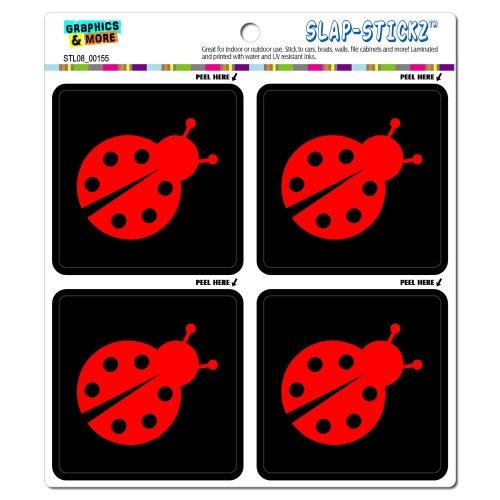 Ladybug Lady Bug SLAP-STICKZ(TM) Automotive Car Window Locker Bumper Stickers