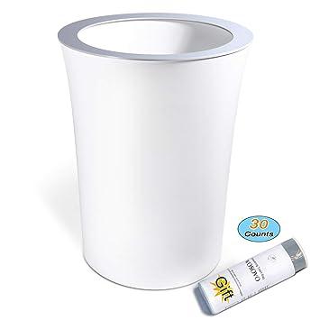 amazon com small trash can 10 liter 2 6 gallon hide garbage bag rh amazon com