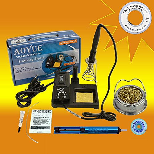 aoyue-469-kit-includes-60-watt-soldering-station-solder-wire-flux-fast-chip-removal-alloy-tip-cleane