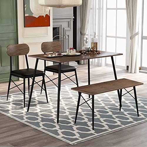 4 Piece Dining Table Set Kitchen Table