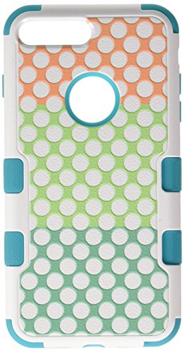 Asmyna Cell Phone Case for Apple IPhone 7 Plus - Polka Dot Trio/Tropical Teal
