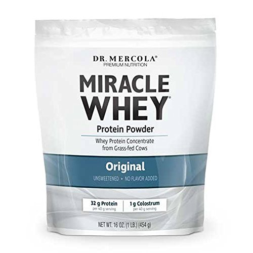 Dr. Mercola Miracle Whey Concentrate Protein Powder – Original – Lean Muscle Growth, Immune Support – Colostrum, Sunflower Lecithin, MCT, Beta Glucan, Amino Acids: Cysteine, Glycine, Glutamate
