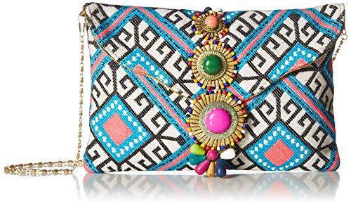 White Jeweled Handbag - Steve Madden BZADA, white/multi