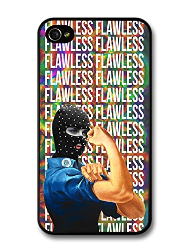 Propaganda Woman with Balaclava on Flawless Acid Trip Pattern Design Cool Grunge case for iPhone 4 4S