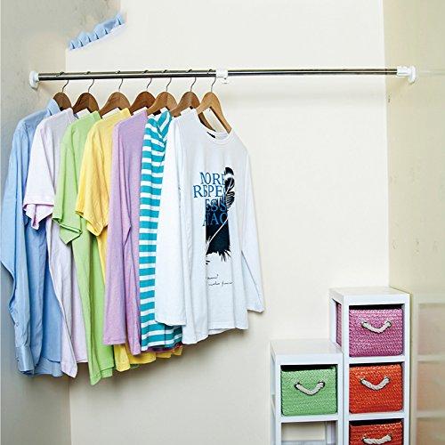 Bathroom shower curtain rod curtain rod rods telescopic strut rod free punch to send Yulian
