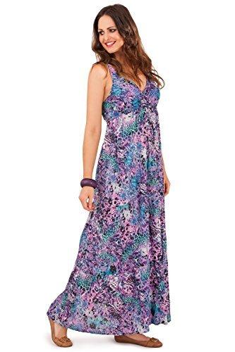 Pistachio-vestido de manga larga para mujer, diseño de animal morado 36
