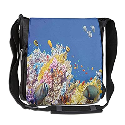 dedc96ad9c new Lovebbag Colorful Underwater World With Corals And Tropical Fish Exotic  Diving Travel Crossbody Messenger Bag