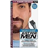 Facial Hair Color - Just For Men Mustache & Beard Brush-In Color Gel, Deep Dark Brown (Packaging May Vary)