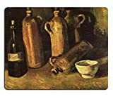 MSD Mouse Pad vincent van gogh still life with four stone bottles flask and white cup 1884 Customized Desktop Laptop Gaming Mousepads