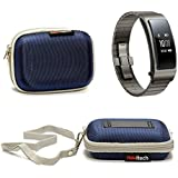 Navitech Blue Hard Protective Case Cover Pouch For TheHuawei Talkband B3