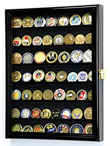 Military Challenge Coin Display Case Cabinet Holder Wall Rack 98% UV Lockable from sfDisplay.com, LLC.