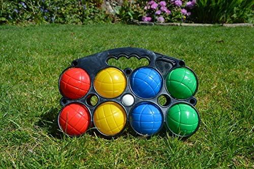 KandyToys Juego de Petanca Nalu de 8 Piezas: Juego de pentanque de Coloridos Juegos de jardín en Estuche: Amazon.es: Deportes y aire libre