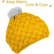 Zodaca Winter Warm Comfort Soft Crochet Pom Pom Beanie Knit Hat for Baby, Boys, Girls, Infant, Toddler, Yellow