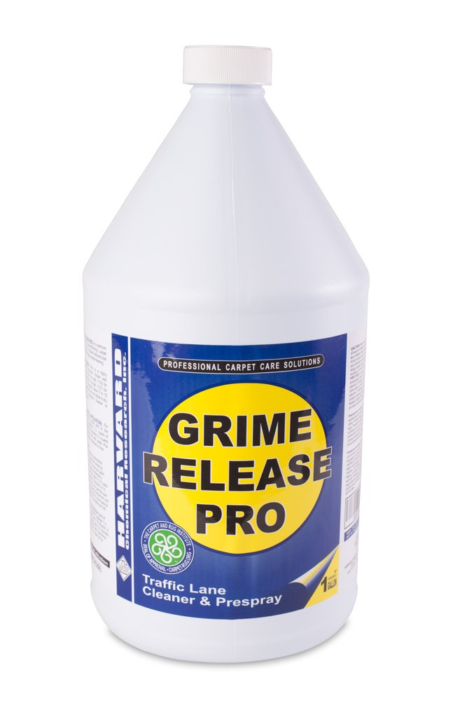 Harvard Chemical 2560 Grime Release Pro Carpet Pre-Spray and Traffic Lane Cleaner, Butyl Odor, 1 Gallon Bottle, Straw Milky (Case of 4) by Harvard Chemical Research (Image #1)