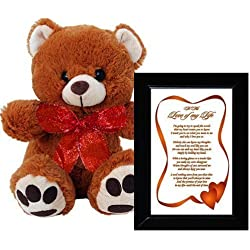 I Love You Gift for Wife, Husband, Boyfriend or Girlfriend - Anniversary, Birthday, Valentine's Day Gift - Plush Teddy Bear and Frame
