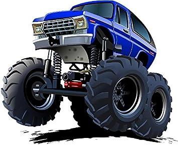 Amazon.com: Ford Bronco 4 x 4 Monster Truck Pared Etiqueta ...