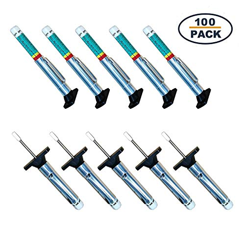 GODESON 100pack Smart Color Coded Tire Tread Depth Gauge ()