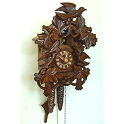 1-Day Wooden Cuckoo Clock in Antique Finish