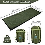 AKKEE Sleeping Bag Lightweight Portable Envelope Sleeping Bags Waterproof For 3 Season Camping Hiking Backpacking Travel Outdoor Activities Ultra Large Single For KidAdults