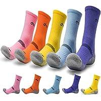 DearMy 5Pack of Women's Multi Performance Cushion Outdoor Sports Hiking Trekking Crew Socks|Moisture Wicking|Gifts for Women