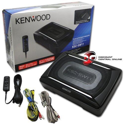 2 X Kenwood Car Under Seat Super Slim Powered Subwoofer Aluminum Enclosed Kenwood Powered Sub
