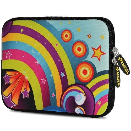 Amzer 7.75-Inch Designer Neoprene Sleeve Case Cover Pouch for Tablet, eBook and Netbook - Funky Ritz (AMZ5080077)