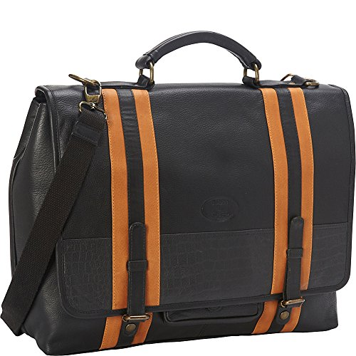 sharo-leather-bags-womens-executive-black-with-stripes-leather-laptop-messenger