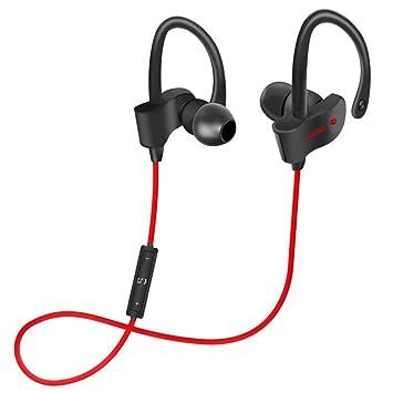 DUHOULI Auriculares Inalámbricos Bluetooth Sport Running Auriculares Stereo Super Bass Headset Auriculares Manos Libres con Micrófono: Amazon.es: ...