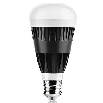 Bombilla LED WiFi GRDE Bombilla Inalámbrica Luz LED 10W Multicolor Regulable Bombillas LED Smart-App Inteligente con Aplicación Gratuita Controlada por ...