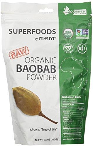 MRM - Raw Organic Baobab Fruit Powder,  Non-GMO Project Verified, Vegan and Gluten-Free (8.5 Ounce)