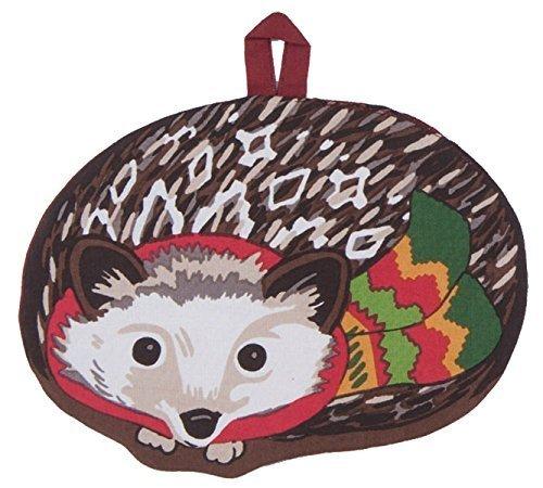 Woodland Pot Holder - Kay Dee Designs Shaped Potholder Pocket Mitt, Winter Woodland Hedgehog, H5212