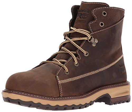 """Timberland PRO Women's Hightower 6"""" Alloy Toe Industrial and Construction Shoe, Kaffe Full-Grain Leather, 7.5 M US"""