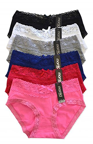 WHITE APPAREL Ladies Bikini Style Panties Various Styles (Pack of 12)