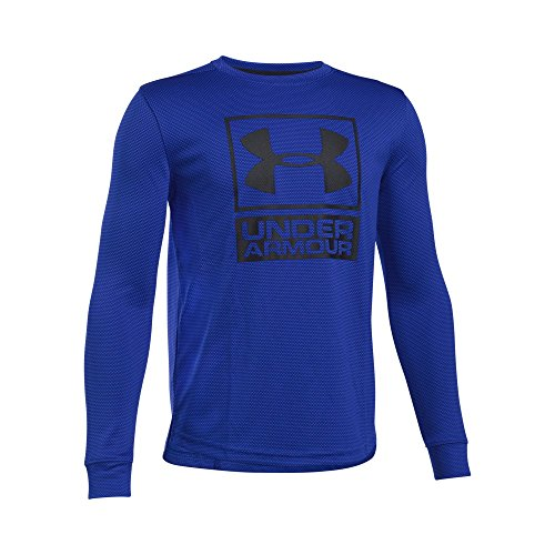 Under Armour Boys' Tech Textured Crew, Ultra Blue/Black, Youth X-Large