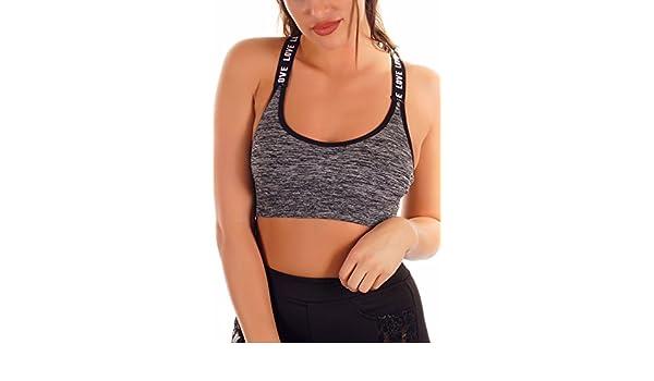 Ouno - Sujetador Deportivo - para Mujer Gris Medium: Amazon.es ...