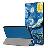 Folio Case for All-New Amazon Fire HD 10 Tablet (7th Generation, 2017 Release) - PU Leather Lightweight Protective Slim Fit Smart Stand Cover with Auto Wake/Sleep for Fire HD 10.1'' Tablet