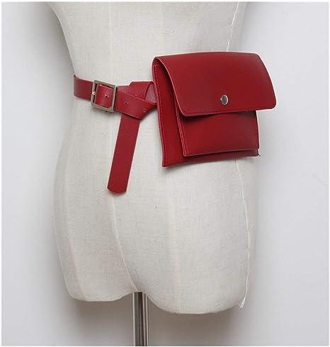 XIAOXINGXING Bolsas De Cintura De Las Mujeres Lady Fanny Pack Bolsas De Mujer For El Cinturón Bolsa De Monedero Sólido Paquete De La Cintura Moneda Simple Bolsa De Teléfono (Color : Burgundy):