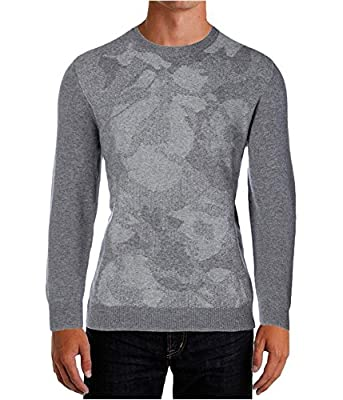 Calvin Klein Mens Wool Long Sleeves Pullover Sweater
