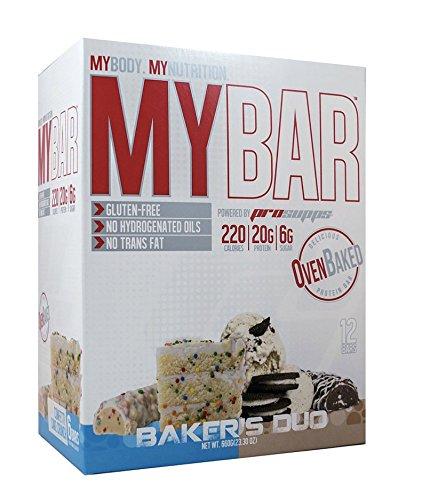 MyBar Baker's Duo Pack 12 Bars (6 Ice Cream Cookie Crunch + 6 Confetti Cake Crunch) Gluten-Free